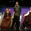 "Gloucester: Tom Martin as Prince Dauntless and the ""Ladies in Waiting"" perform a dance number during a rehearsal for Gloucester High School Theatre Program's production of ""Once Upon a Mattress,"" which runs tonight and tomorrow night at 7 p.m. and Sunday at 2 p.m. in the high school auditorium. Fifty-five students, including 17 graduating seniors, are involved in the production, which is also the final show for Faculty Advisor Sophi Hopkins, who has directed 12 shows with the program. Photo by Kate Glass/Gloucester Daily Times"