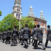 Gloucester: Master Masons parade past City Hall towards the Temple Ahavat Achim for cornerstone ceremony Sunday afternoon.   Desi Smith/Gloucester Daily Times.