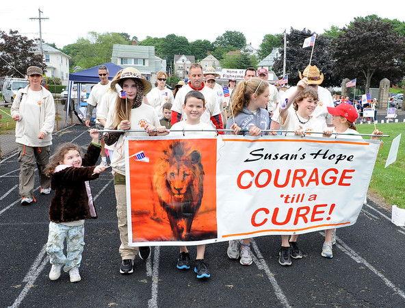 Gloucester:  Friends of Susan walk in her memory at the Walk for Life Friday night at the GHS.  Desi Smith/Gloucester Daily Times. June 17,2011