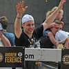 Boston: Bruins Gregory Campbell reacts to cheers from fans at the the Bruins Victory parade held Saturday in Boston. Desi Smith/Gloucester Daily Times. June 18,2011.