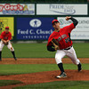 Lowell: North Andover pitcher Mike Weisman threw 7 shutout innings in their 3-0 win over Gloucester in the Division 2 North Semi Finals at LeLacheur Park in Lowell on Saturday night. Photo by Kate Glass