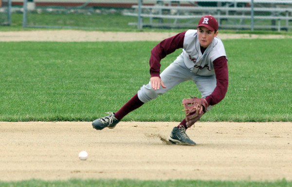 Rockport: Rockport shortstop Mike Tupper fields a ground ball during the first round of the MIAA Division 4 North baseball championship at Evans Field yesterday. Matignon won the game 4-2. Photo by Kate Glass/Gloucester Daily Times