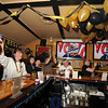 Gloucester: Fans react when the Bruins score in the 1st period last night at Espresso's Playoff Party.  Desi Smith/Gloucester Daily Times. June 12,2011