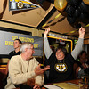Gloucester:  Fans John and Judy Sherry react when the Bruins scored in the 1st period last night at Espresso's Playoff Party.  Desi Smith/Gloucester Daily Times. June 12,2011