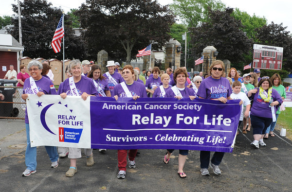 Gloucester:  Cancer Surviors start the Walk for Life Friday night at the GHS.  Desi Smith/Gloucester Daily Times. June 17,2011