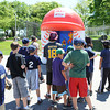 Gloucester:  The Speed Pitch drew a good crowd for those eager to see how fast they can throw a baseball, Saturday morning at the Little Leauge Home Run Durby at Boudreau Field.   Desi Smith/Gloucester Daily Times.