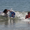 Rockport: Irene McLaughlin-Alves and her sister, Alice, go boogie boarding at Cape Hedge Beach yesterday afternoon. The two, who are from the Boston area, were in town visiting friends. Photo by Kate Glass/Gloucester Daily Times