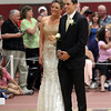 Class President Mike Tomaino and Vice President Sarah Grobes lead off the Gloucester High School Promenade at the Benjamin A. Smith Fieldhouse last night. Photo by Kate Glass/Gloucester Daily Times