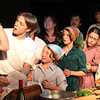 "Allegra Boverman/Staff photographer. Gloucester Daily Times. Gloucester: During ""Greasy Pole, the Musical,"" during the song: ""Don't Forget The Cannoli."" FRONT ROW from left are: Alison Landoni as Mama Scolafazza, Timothy ""Cowboy"" Bagley as Filippo Scolafazza, Shannon Connoly as Cousin Gratziela, Dylan Kerr as Cousin Arietta, Bianca Tocco as Bambalina Solafazza, Shannon Kelly as Rosa Scolafazza. In BACK ROW from left are: (hidden) Kelly Krajewski as Zia Pia, Barbara Jansson as Zia Adelina, Mark Logan as Cousin Alessandro, and Richard Crowell as Donato Scolafazza."