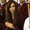 ALLEGRA BOVERMAN/Staff photo. Gloucester Daily Times. Rockport: Valedictorian Savannah Reed at Rockport High School's commencement on Friday evening at the school.
