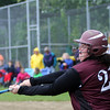 ALLEGRA BOVERMAN/Staff photo. Gloucester Daily Times. Rockport: Rockport's Kayla Parisi bats during their game against North Shore Tech on Sunday in Rockport.