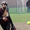 ALLEGRA BOVERMAN/Staff photo. Gloucester Daily Times. Rockport: Rockport's Kristin Turner pitches during their game against North Shore Tech on Sunday in Rockport.
