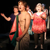 "Allegra Boverman/Staff photographer. Gloucester Daily Times. Gloucester: Timothy ""Cowboy"" Bagley as Filippo Scolafazza with the ensemble in the ""Greasy Pole, the Musical"" finale, ""We All Walk Together When We Walk."""