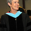 ALLEGRA BOVERMAN/Staff photo. Gloucester Daily Times. Rockport: Retiring Superintendent of Schools Susan King at Rockport High School's commencement on Friday evening at the school.