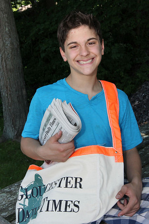 ALLEGRA BOVERMAN/Staff photo. Gloucester Daily Times. Gloucester:Joseph Billante, 13, is Gloucester Daily Times Carrier of the Month.