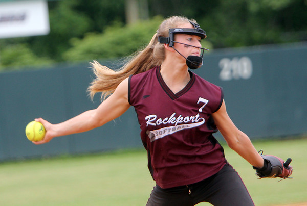 ALLEGRA BOVERMAN/Staff photo. Gloucester Daily Times.  Lowell: Rockport's pitcher Kirstin Turner during their game against St. Mary's in the Division III North Semifinals held in Lowell on Friday afternoon.