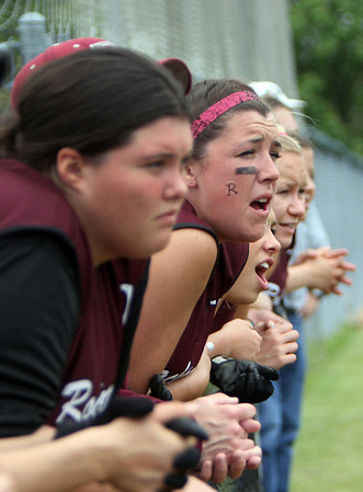ALLEGRA BOVERMAN/Staff photo. Gloucester Daily Times.  Lowell: Rockport players urge on their teammates during their game against St. Mary's in the Division III North Semifinals held in Lowell on Friday afternoon.