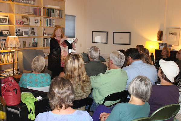 """Best-selling author Brunonia Barry, a Salem native, was a special guest at the Gloucester Writers Center Tuesday night when she spoke about her career, how she started in self publishing and her transition to traditional publishing. Among her best-selling works are """"The Lace Reader"""" and """"The Map of True Places.""""  Gail McCarthy photo"""