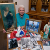 Gloucester: Sara Favazza at her home with some of her Fiesta Memorabilia and photographs. JIm Vaiknoras/staff photo