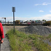 ALLEGRA BOVERMAN/Staff photo. Gloucester Daily Times. Gloucester: Mayor Carolyn Kirk, at the I-4, C-2 site, discusses the brownfield site and            <br /> what needs to be done to clean it up so that it can be redeveloped.