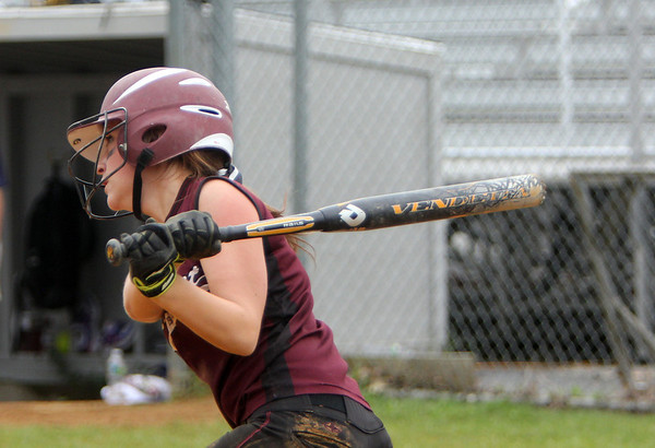 ALLEGRA BOVERMAN/Staff photo. Gloucester Daily Times.  Lowell: Rockport's Hannah Lorden bats during their game against St. Mary's in the Division III North Semifinals held in Lowell on Friday afternoon.