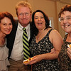 ALLEGRA BOVERMAN/Staff photo. Gloucester Daily Times. Gloucester: At the 40th Birthday Party for State Rep. Ann-Margaret Ferrante at Cruiseport on Friday evening. From left are Beth and Kevin Kiely of Rockport, Ferrante and her mother Frances Ferrante, both of Gloucester.