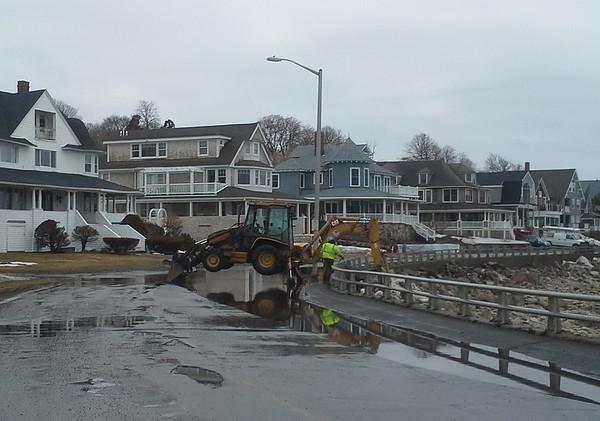 Flooding on Atlantic Road