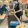 DESI SMITH/Staff photo.    Jonathan Taormina works the register at the Shaws on Eastern Ave, is part of the Gloucester High School Transition Program, which is a partnership with Cape Ann Business for students who are not going on to higher education. May 1,2014