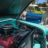 DESI SMITH/Staff photo.  Tony Curcuru of Gloucester, looks over a 1956 Chevy Belair at the car show held behind the Essex Police Station Sunday afternoon. Tony was was married in 1954, and went on his honeymoon, driving the same year car.<br />  May 18,2014