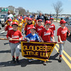 DESI SMITH/Staff photo.    Young Rangers players make they way to  Boudreau Field along Western Ave Saturday morning in the Gloucester Little League Parade  May 3,2014