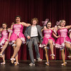 DESI SMITH/Staff photo.    From left to right, Sara Corchado, Cara Stockman, Christina Giambanco, Jack Favazza, Madison Smith, Ts Burnhan, and Olivia Casey perform a number in Crazy For You, during a dress rehearsal Wednesday night at the Gloucester High School.  May 8,2014