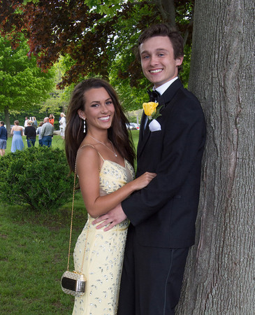 DESI SMITH/Staff photo.  Paige Lafferty and Devon Towle pose for a photo after arriving at Tucks Point Friday afternoon for prom night .  May 30 ,2014