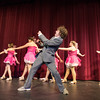 DESI SMITH/Staff photo.  Jack Favazza (center) performs a dance routine with, from left to right, Sara Corchado, Cara Stockman, Christina Giambanco, Madison Smith, Ts Burnhan, and Olivia Casey Crazy in for You, Wednesday night at the Gloucester High School.  May 8,2014