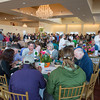DESI SMITH/Staff photo.    Diners fill the hall at the Cruiseport Gloucester for the annual benefit spotlighting the fight against hunger. Diners savor soup from hand-painted bowls that they buy and others are auctiined off Thursday night at  May 8,2014