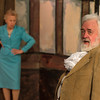 """DESI SMITH/Staff photo.   Annegret Reimer (left) Mistress Ford,and Ray Jenness, Falstaff, act out a scene in a rehearsal for """"The Merry Wives of Windsor"""" Monday night at the Gloucester Stage Company. The plays start May 8, 9, 10, 15, 16, 17, at 8 PM; May 11 and 18 at 3 PM at the Gorton Theatre (home of Gloucester Stage Company) 267 East Main Street. Tickets are $15 general admission, $10 student, and $5 youth under nineteen and may be purchased at the door or reserved at cast2008@prodigy.net  May 5,2014"""