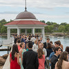DESI SMITH/Staff photo.  Prom goer's line the boardwalk to the gazebo Friday afternoon at Tucks Point.  May 30 ,2014