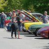 DESI SMITH/Staff photo.  Car enthusiast from all over flocked to see some classic vintage cars at a car show held behind the Essex Police Station Sunday afternoon. <br />  May 18,2014