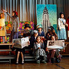 "Gloucester: Plum Cove Elementary School third and fourth grade students rehearse a scene from ""Annie: A Musical Revue."" They will be performing the show tonight and tomorrow night at 7 pm in the Plum Cove Auditorium. Tickets are $4, $3 for students and seniors. Photo by Kate Glass/Gloucester Daily Times Tuesday, March 31, 2009"