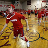 Rockport: Rockport senior David Campbell and his classmates cheer as he clears the limbo pole during the last day of Spirit Week at Rockport High School yesterday. Along with limbo, the students participated in a mural contest and tug of war. Photo by Kate Glass/Gloucester Daily Times Friday, March 13, 2009