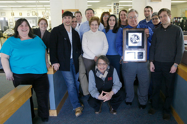 Gloucester: The Gloucester Daily Times was recently named Newspaper of the Year in the division for dailies with circulations less than 13,500 in a New England Newspaper Association contest. Photo by Kate Glass/Gloucester Daily Times Friday, March 13, 2009