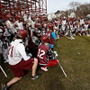 Gloucester: Gloucester boys lacrosse coach Drew Dominick talks with the team at the beginning of their first day of practice yesterday. Photo by Kate Glass/Gloucester Daily Times Monday, March 16, 2009