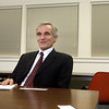 Gloucester: Dr. James W. Balsiger, Acting Assistant Administrator of Fisheries, meets with Gloucester Daily Times staff on Monday. Photo by Kate Glass/Gloucester Daily Times Monday, March 2, 2009