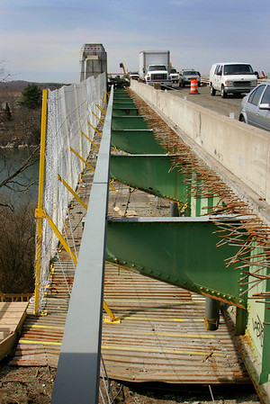 Gloucester: The rehabilitation of the A. Piatt Andrew Bridge is ontime and on budget according to Mass Highway officials who also sais relief for motorist is on the way this summer . Mary Muckenhoupt/Gloucester Daily Times