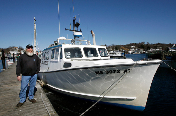Gloucester: Captain Paul Cohen of the Sasquatch, like most small boat owners, will have no place to fish for the next two months as rolling closures go into effect for the waters surrounding Cape Ann. Photo by Kate Glass/Gloucester Daily Times Tuesday, March 31, 2009