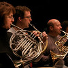 Gloucester: Donna Murphy, Ben Hawkins, Lawrence Price, and Janet Harrison rehearse with the Cape Ann Symphony on Thursday. The symphony is welcoming back two of their most popular guest artists - violin soloist Lucia Lin and cello soloist Owen Young - for The Classics Concert on Saturday, March 28th at 8 p.m. and Sunday, March 29th at 2 p.m. at Fuller Auditorium. Photo by Kate Glass/Gloucester Daily Times Thursday, March 19, 2009