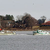 Gloucester: Two lobster boats motor back into the harbor on Friday afternoon. Mary Muckenhoupt/Gloucester Daily Times