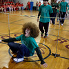 Rockport: Ernie Aase, a freshman at Rockport High School, reacts as he falls while competing in the limbo competition during the last day of spirit week. Photo by Kate Glass/Gloucester Daily Times Friday, March 13, 2009