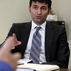Gloucester: Suhail Partawi of Caulk Management, the company hoping to build a Hampton Inn at Blackburn Industrial Park. Photo by Kate Glass/Gloucester Daily Times Tuesday, March 10, 2009