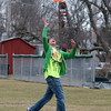 Rockport: Ben Clarkson, a senior at Rockport High School, catches a Frisbee while playing with his friends and getting ready for the upcomming ultimate Frisbee season at Evans Field Friday afternoon. Tryouts for Rockport High School ultimate Frisbee are Tuesday after school. Mary Muckenhoupt/Gloucester Daily Times