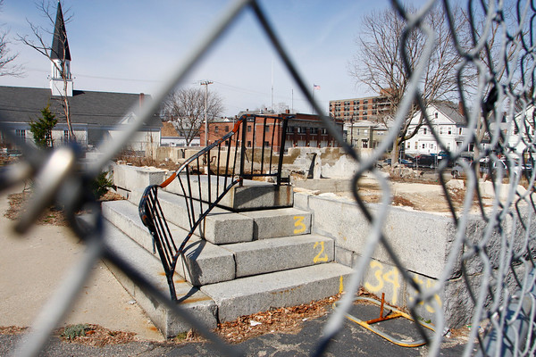 Gloucester: The rebuilding of Temple Ahavat Achim is set to begin in April after the temple burned down in December 2008. Mary Muckenhoupt/Gloucester Daily Times